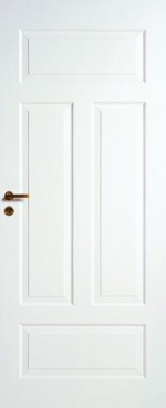 Двери Межкомнатные Дверь межкомнатная белая 4-хфиленчатая №41