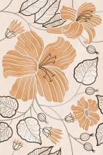 Керамическая плитка Golden Tile Бежевый Е91301 декор