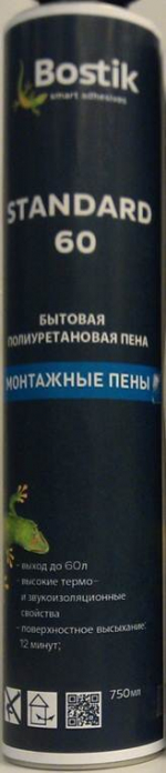Строительные товары Герметики, пены, клей Bostik пена бытовая Standard 60