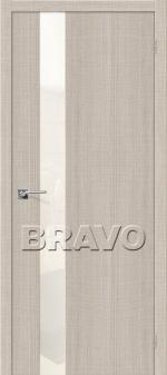 Двери Межкомнатные Порта-51 Cappuccino Crosscut СТ-White Pearl