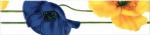 Керамическая плитка М-Квадрат Бордюр Моноколор Маки Желтый-Синий 270011