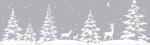 Самоклеющаяся пленка D-C-Fix Новогодний витражный бордюр Winter Border W1 Зимний лес