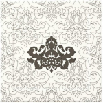 Керамическая плитка Piemme Vallentino Forma Bianco/Nero Damasco MRV174 15970