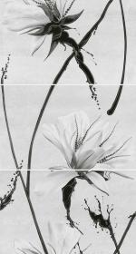 Керамическая плитка Шахтинская плитка (Unitile) Декоративное панно Картье серый 01