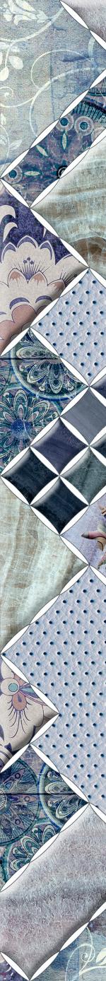 Керамическая плитка Березакерамика (Belani) Фриз Симфония синий