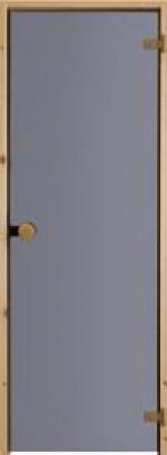 Двери Межкомнатные Дверь для сауны с круглой ручкой дымчато-серая №83
