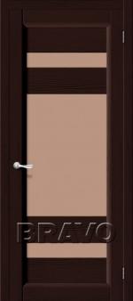 Двери Межкомнатные Леон Т-19 (Венге) ПО СТ- Сатинато