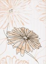 Керамическая плитка Березакерамика (Belani) Декор Ретро цветок оранжевый