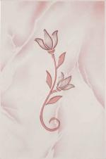 Керамическая плитка Шахтинская плитка (Unitile) София декор тюльпан розовый