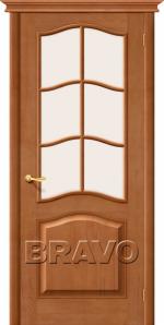 Двери Межкомнатные М7 Т-05 (Светлый Лак) ПО СТ-Сатинато