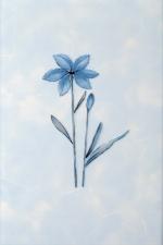 Керамическая плитка Газкерамик Декор Валентино Цветы голубой