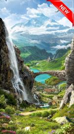 Стеновые панели Листовые Водопад