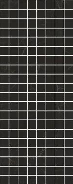 Керамическая плитка Kerama Marazzi Декор настенный Алькала черный мозаичный MM7204