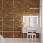Стеновые панели 3D панели Wave Bronze