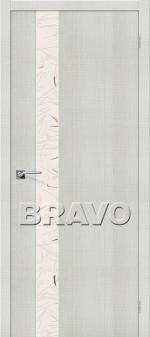 Двери Межкомнатные Порта-51 Bianco Crosscut СТ-Silver Art