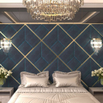 Стеновые панели 3D панели Avrora Dark Blue
