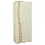Мебель Витра Шкаф двухдверный многофункциональный Соната 98.13 дуб Кобург, Магнолия глянец