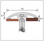 Подложка, порожки и все сопутствующие для пола Порожки Порог одноуровневый 30 мм