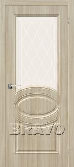 Двери Межкомнатные Скинни-21 П-34 (Шимо Светлый) остекленное