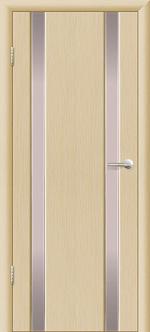 Двери Межкомнатные Гранд-М  вариант 1 с белым триплексом Выбеленный дуб