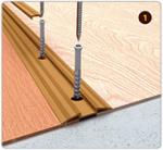 Подложка, порожки и все сопутствующие для пола Порожки Порог с монтажным каналом прорезиненный 42 мм