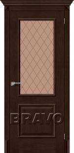Двери Межкомнатные Классико-13 (new) Antique Oak СТ-White Сrystal