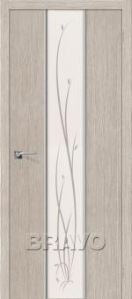 Двери Межкомнатные Глейс-2 Twig 3D Cappuccino