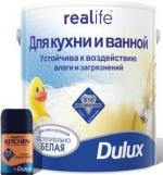 Строительные товары Лакокрасочные материалы REALIFE для кухни и ванной о/белая матовая