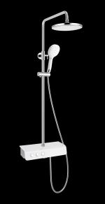 Сантехника Gllon Душевая стойка с изливом SF2033LW-S (цвет белый глянец)