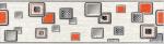 Керамическая плитка Газкерамик Бордюр керамический Laura Cube серый