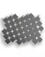 Керамическая плитка ДСТ Плитка зеркальная графит матовый + серебро Гм70С30