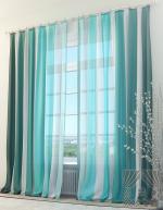 Товары для дома Домашний текстиль Бирюзовые страйпс 970053