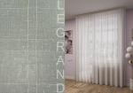 Товары для дома Домашний текстиль Тюль Лён с утяжелителем белый с золотом