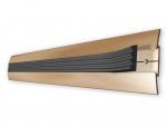 Подложка, порожки и все сопутствующие для пола Порожки Противоскользящий aлюминиевый порожек А08 с резиновой накладкой
