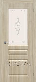 Двери Межкомнатные Скинни-15 П-34 (Шимо Светлый) остекленное