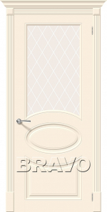 Двери Межкомнатные Скинни-21 Cream White Сrystal