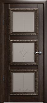 Двери Межкомнатные Версаль-3 орех мателюкс ромб