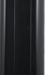 Плинтус Идеал Пластиковый плинтус с кабель-каналом Черный 007