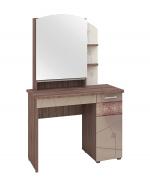 Мебель Витра Туалетный столик Розали 96.06 ясень Шимо темный, Крем-брюле глянец, Мокко глянец