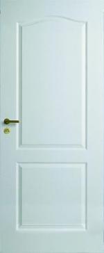 Двери Межкомнатные Дверь белая с арочной филенкой глухая № 21