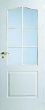 Двери Межкомнатные Дверь белая с арочной филенкой под 6 стекол №22