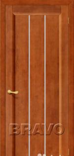 Двери Межкомнатные Вега-19 Т-31 (Темный Орех) ПО СТ-Кризет