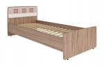 Мебель Витра Кровать Розали 96.04 ясень Шимо темный, Крем-брюле глянец, Мокко глянец