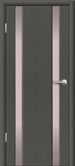 Двери Межкомнатные Гранд-М  вариант 1 с белым триплексом Серый дуб