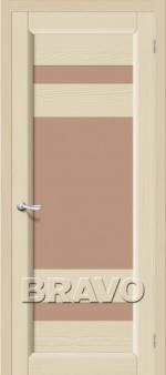 Двери Межкомнатные Леон Т-18 (Ваниль) ПЧО СТ- Сатинато