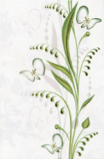 Керамическая плитка Березакерамика (Belani) Декор Нарцисс лето салатный