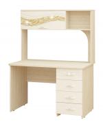 Мебель Витра Письменный стол Соната 98.26.1 дуб Кобург/Магнолия глянец