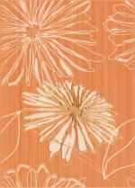 Керамическая плитка Березакерамика (Belani) Декор Ретро цветок 2 оранжевый