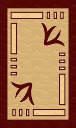 Ковры ТАТ Brilliant Collection 0700 beige-red Овал