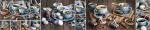 Стеновые панели Кухонные фартуки Голубой сервиз 070701-00